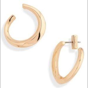 ALLSAINTS - Sculptural Hoop Stud Earrings